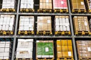 Products in warehouse ready for export that require HS Codes.