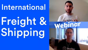 Webinar discussing International Freight and Shipping