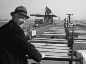 Inventor of shipping container Malcom McLean