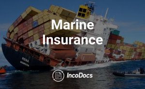 Shipping vessel with containers falling off covered by marine insurance
