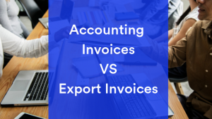 Sharing export invoices for global trade shipments