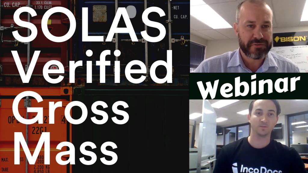 Webinar for SOLAS Verified Gross Mass regulations