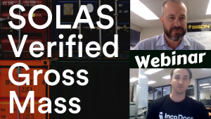 Webinar for SOLAS Verified Gross Mass regulations