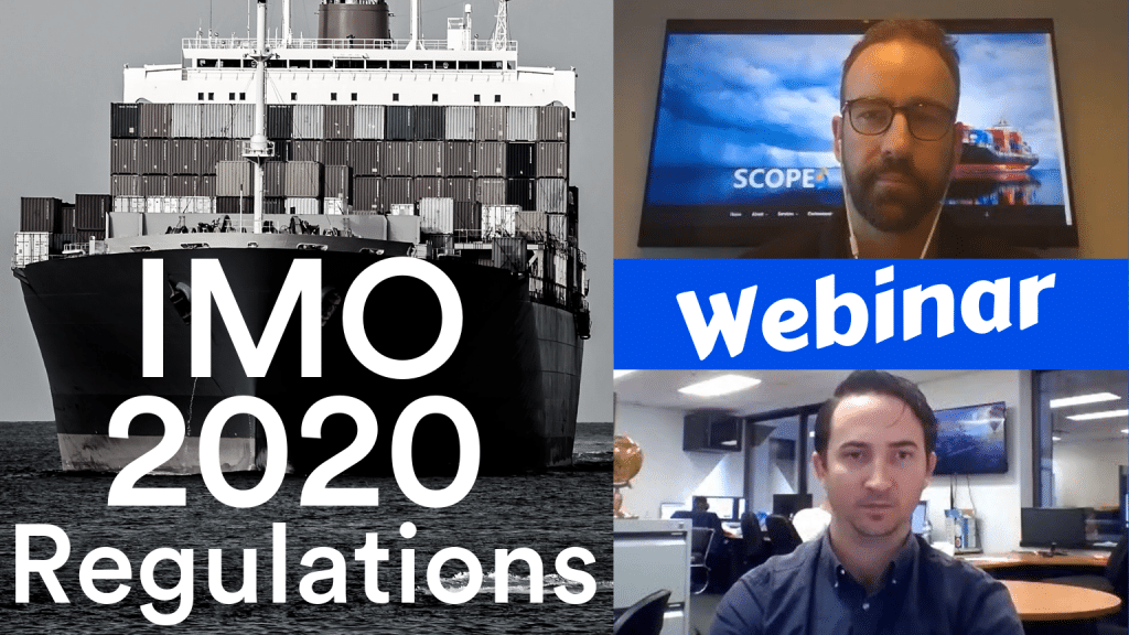Podcast discussing IMO2020 regulations for the shipping industry