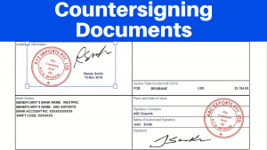 Trade documents with digital signatures