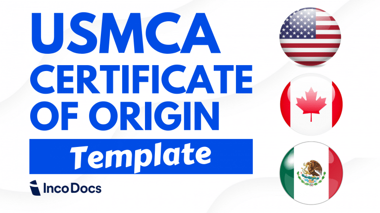 USMCA Certificate of Origin