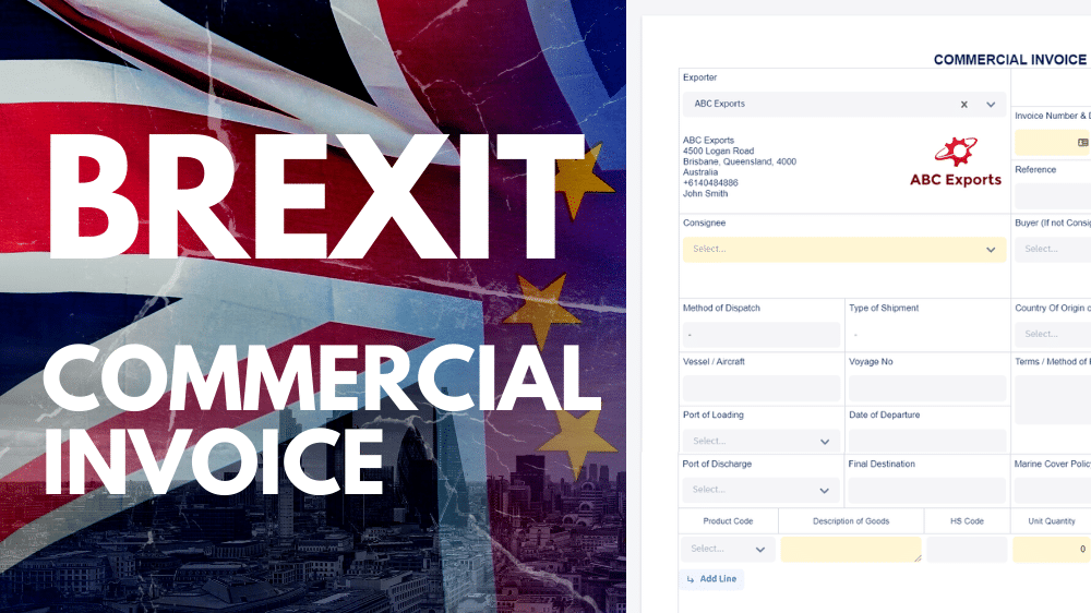 How To Create A Commercial Invoice Document Template For Brexit Incodocs